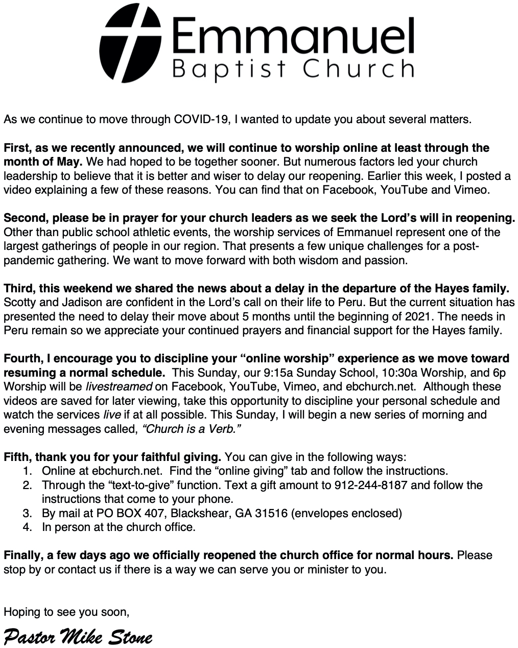 51220 Letter to the Church